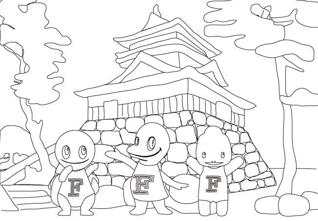 塗り絵-juratic-(丸岡城)